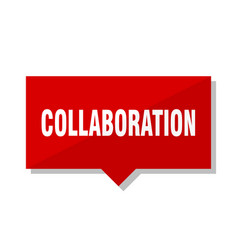 Collaboration red tag vector