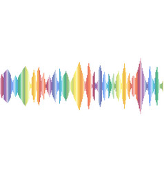 colored sound waves music tracks flat design vector image