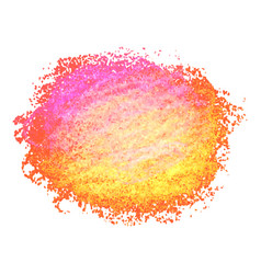 colorful crayon scribble texture stain isolated on vector image