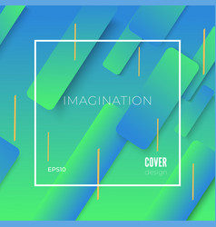 Colorful geometric blue and green background vector