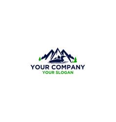 common loon in mountain logo design vector image