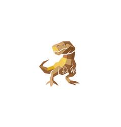 creative polygonal dinosaur logo symbol vector image