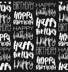 Creative seamless pattern with birthday greetings vector
