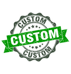 Custom stamp sign seal vector
