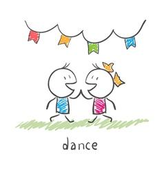 Dancing couple vector