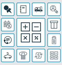 ecommerce icons set collection of spiral notebook vector image