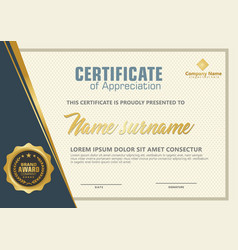elegant certificate template with luxury and vector image