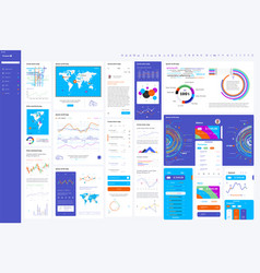 elements infographics and user vector image