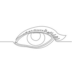 female eye continuous single drawn one line vector image