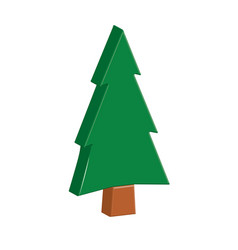 fir trees forest icon vector image