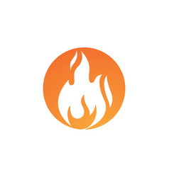 fire flame icon design vector image