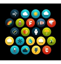 Flat icons set 23 vector