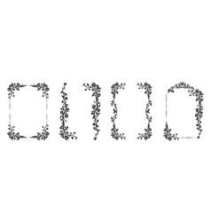 flourish design set vector image