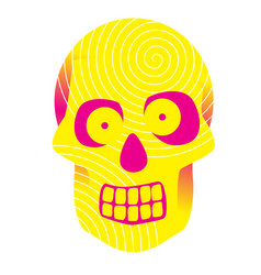 funny yellow scull vector image
