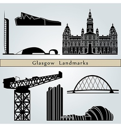 Glasgow Landmarks and monuments vector image