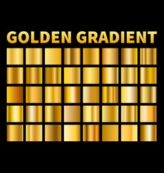 golden gradients gold squares metal gloss vector image