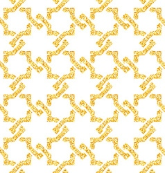 Golden seamless weave pattern vector
