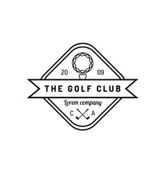 golf logo sports club linear vector image