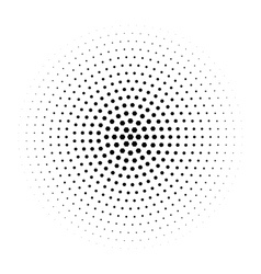 Halftone circle made of hexagons vector