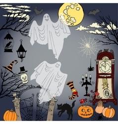 Halloween holidays decorations vector