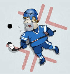 Hockey washer vector