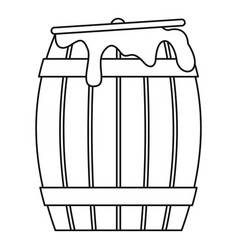 Honey barrel icon outline style vector
