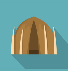 human house icon flat style vector image