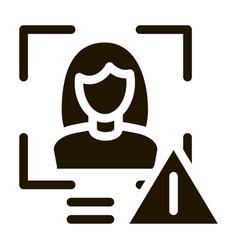 identity alert woman icon glyph vector image