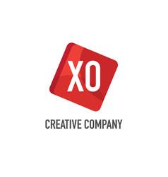 initial letter xo logo template design vector image