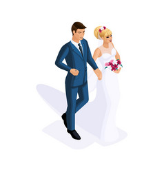 isometry of a man and a woman at a marriage a bri vector image
