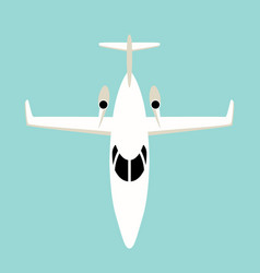 jetliner flat style front vector image
