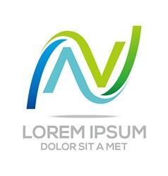 letter combination alphabet design icon vector image
