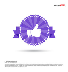 like icon - purple ribbon banner vector image