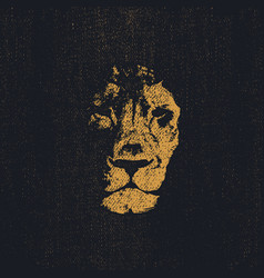 Lion head hand drawn eps8 vector