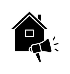 Listing for house black icon concept vector