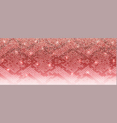 Luxury pink gold glitter banner with snakeskin vector