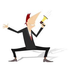man megaphone and news concept vector image