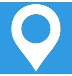 Map Marker flat white color icon vector image