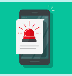 mobile cellular phone alarm alert file icon or vector image