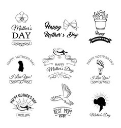 mothers day labels set vector image