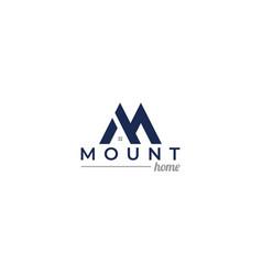 Mount home logo design vector