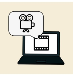 Movie icon and technology design vector image