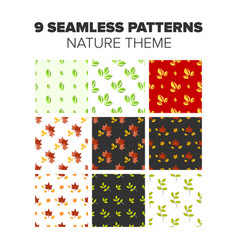 Nature seamless patterns vector