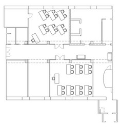 Plan for office space vector