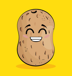 potato vegetable comic character vector image