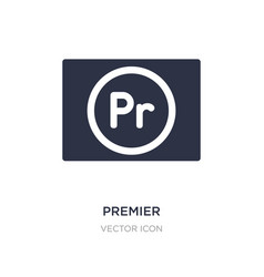 Premier icon on white background simple element vector