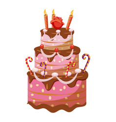 Princess cake icon cartoon style vector