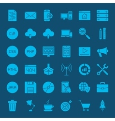 Programming Glyphs Website Icons vector image