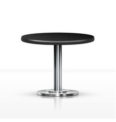 realistic one leg round table vector image