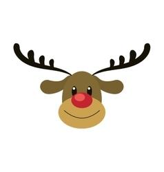 Reindeeer merry chistmas design vector